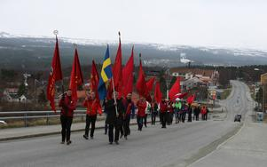 Årets förstamajfirande höll Socialdemokraterna i Härjedalen i Funäsdalen.