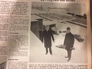 Byggnadschef Enar Hällgren och kontrollant Åke Wennerlund.