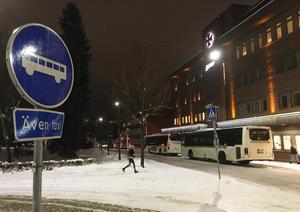 På torsdagen var det många inställda bussturer  i Örnsköldsvik.