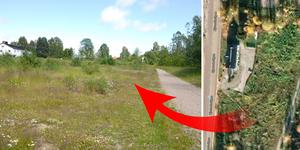 Bostadsbolaget Bo Klok vill bygga bostadsrätter i Kvissleby och har reserverat den här tomten. Där planerades det tidigare för klimathus.