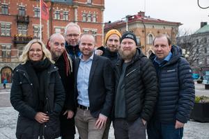 Sofie Stark, Anders Sebring, Mats Ågebrant, Lars Persson Skandevall, Tord Budenberg, Jonas Hamlund och Peter Åström hoppas alla på en välbesökt SM-vecka, även utanför själva tävlingsarenorna.