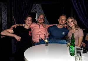 Robin Lindholm, Jesper Kvarberg, William Godin och Emma Svedlund.