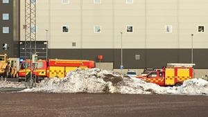 Räddningstjänsten från Avesta och Hedemora ryckte ut till brandlarmet vid Bolidens gruva i Garpenberg.