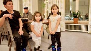 Många barn besökte språkkaféet tillsammans med sina föräldrar.