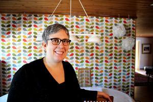 Åsa Hansson har gjort en storrensning hemma i villan i Hökåsen.