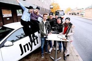 Från vänster: Alexandra Locking, Hanna Sjöberg, Erik Boström, Tobias Hellgren, Peter Gustafsson, Donald Sandström, Sofia Weström.