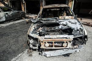 Tommy Jansson bil blev totalförstört i branden.