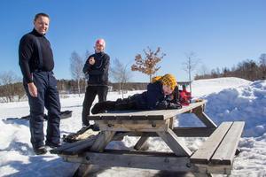 Familjen Humla har besökt det nya vinterområdet många gånger.