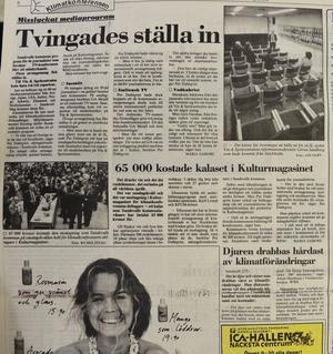 Sundsvalls kommun hade fått i uppdrag att hitta på aktiviteter för alla tillresta journalister. En flopp som inte lockade många ur världspressen.