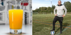 Drick gärna färskpressad apelsinjuice efter träningen, tipsar NIF:s kostchef Felipe Santibanez.