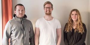 Gustaf Eriksson, Jonas Hedlund och Anna Skoglund läser till VA-projektör.
