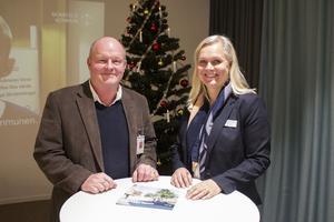 Ronny Jansson från Credentia tillsammans med kommunens samhällsbyggnadsdirektör Charlotte Köhler.