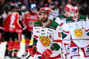 Tomas Skogs deppar efter misstaget som gav Luleå 1–0.Foto: Simon Eliasson/Bildbyrån