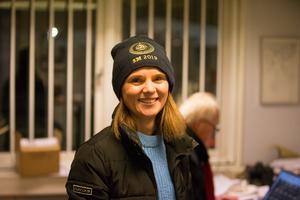 En nöjd sportchef, Jenny Andersson.