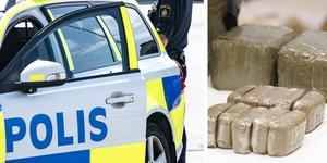 Polisen omhändertog paketet, som innehöll 55 gram hasch. Bilden är från ett annat narkotikabeslag. Foto: TT