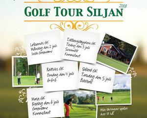 Golf Tour Siljan 2018 har spelats i  hos Leksand GK, Tällberg GK, Rättvik GK, Sollerö GK och Mora GK.