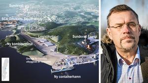 Logistikparkens vd Sven Magnusson får återigen flytta fram slutdatum för Petersviks kombiterminal och containerhamn.