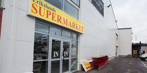 Livsmedelsaffären Erikslunds Supermarket öppnade nyligen på Krankroksgatan.
