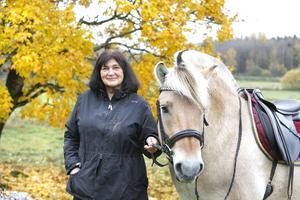 Ulla-Marie Hellenberg och hästen Douglas.