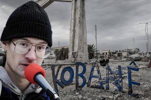 Erwin marklund vill ta sig till Kobane i Syrien. Bilden är ett montage.