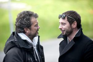 Dragomir Mrsic och Matias Padin Varela under inspelningen.
