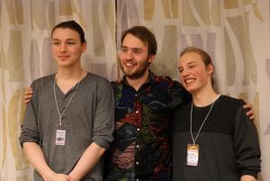 Fjolårets länsvinnare i Musik direkt,Trio On Hold. Nu går tävlingen under namnet Imagine. Foto: privat