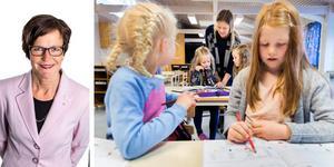 Att ha höga förväntningar på att varje skola, rektor, lärare och elev kan lyckas är grunden. Viktigt är att mötet mellan elever och skickliga lärare blir så många som möjligt, skriver Maria Haglund (M).  Foto: Gorm Kallestad/TT