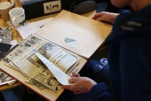 Gamla tidningsurklipp samt bilder från en svunnen tid spelade en huvudroll när delar av Opes 76-lag återsamlades på Sporten.