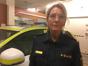 Polisen har inte kunnat göra en brottsplatsundersökning efter inbrottet, berättar inre befäl Terese Heidenborg.