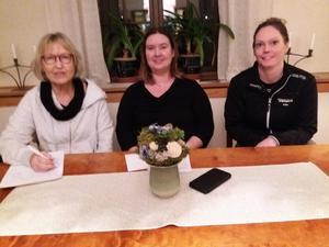 Monica Jonasson, Bergsjö, Anita Hammarström, Hassela och Erica Svensk i Ilsbo samlade körsångare i Bergsjö för att diskutera gemensamma frågor.