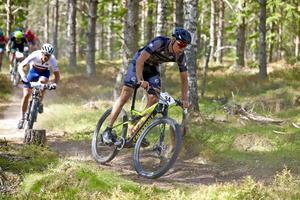 I de trixigare partierna i skogen trivs Emil Thyrén allra bäst. Han har fortfarande mycket att lära när det kommer till det taktiska spelet i en cykelklunga.
