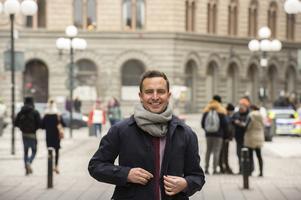 Tomas Tobé (M), Gävleborgspolitiker som nu lämnar Stockholm och riksdagen för Bryssel. Foto: Hossein Salmanzadeh / TT