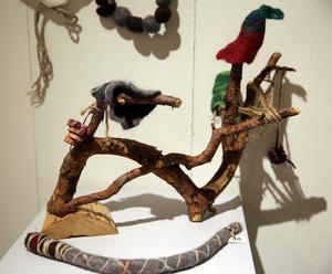 Trolleksaker gjorda av barn från Bjursås slöjdklubb.