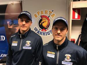 Martin Grönberg, till vänster, och Mattias Nilsson, som anslöt från Leksand inför den här säsongen.