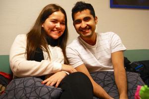 Ett foto som en kompis har tagit på Kristina och Immad.