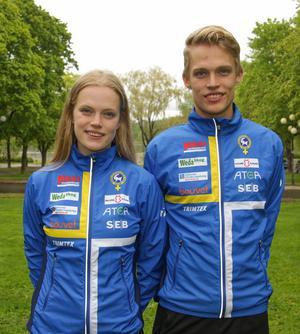 Vilma von Krusenstierna tillsammans med storebror Isac, även han med i utvecklingslandslaget inför 2020. Foto: Lars Gustafsson