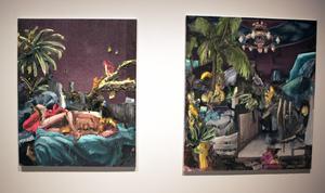 I Björn Camenius oljemålningar rör sig i gränslandet mellan det konkreta och abstrakta samt det verkliga och fiktiva.