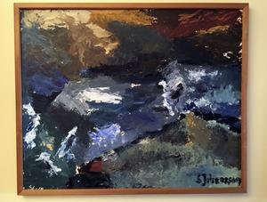 Stigs tavla hänger i Montreal, Kanada. Den är målad på en fjällsemester i mitten av 60-talet.
