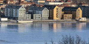 Utsikt över Storsjö Strand från Frösösidan.