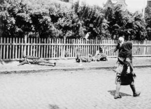 Ihjälsvultna bönder ukrainska Charkiv 1933. Foto: Alexander Wienerberger