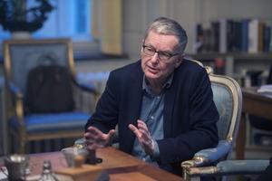 Svenska Akademiens ständige sekreterare Anders Olsson fyller 70 år i juni och bör då enligt praxis stiga åt sidan för en yngre förmåga. Foto: Fredrik Sandberg / TT