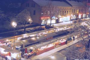 Hindersmässan på kvällen. 1960. (Bild: Örebro stadsarkiv)