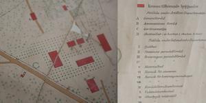 Fotomontage av en karta över Salbohed från 1888.