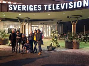 Den tionde januari fick deltagarna komma på besök hos SVT. Foto: Privat