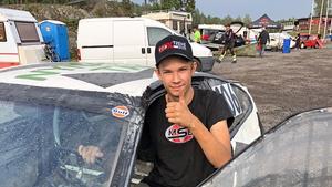 Robin Tietjens från Sorunda imponerade som folkraceförare, när han vann juniorklassen i Caravanhallen Cup. Foto: Privat