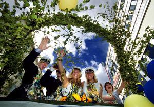 Elever från N3F på Rudbeckianska gymnasiet 2001. Foto: Tony Persson/VLT:s arkiv