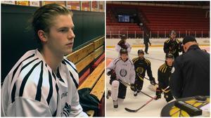 Victor Söderström har tränat med Brynäs A-lag hela veckan – och spås en lysande framtid.