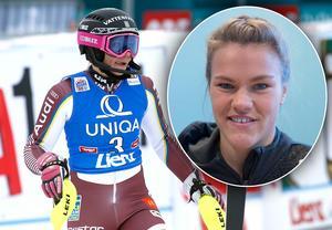Sveriges Frida Hansdotter, till vänster, och Anna Swenn-Larsson, infällda bilden, placerade sig båda på topp tio i Zagreb. Bilder: TT Nyhetsbyrån.