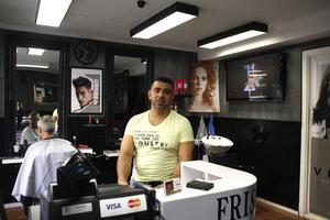 Salah Fakih driver frisörsalongen Agaton Sax.
