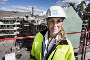 Jessica Löfström är styrelseordförande och grundare av byggbemanningsföretaget Expandera Mera. Foto: Magnus Hjalmarsson Neideman/TT